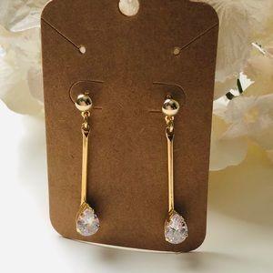 Jewelry - Gorgeous 18K Plated Zirconia Earrings - FIRM
